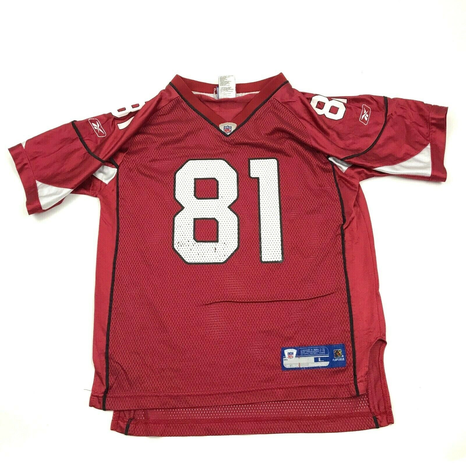 Primary image for Vintage Reebok Anquan Boldin Arizona Cardinaux Football Jersey Garçons Taille L