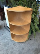 Corner Shelf Blonde Wood Color 41 X 16 Inches Local Pick Up Only - $12.60