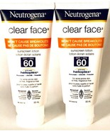 2 Ct Neutrogena 88 mL Clear Face SPF 60 Won't Cause Breakouts Sunscreen ... - $35.99