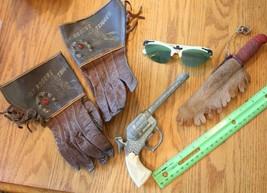 Cowboy Toy Lot of Roy Rogers Trigger Gloves vintage rubber knife green g... - $173.25