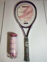 "Wilson Breast Cancer Awareness Hope Tennis Racket L2 4 1/4"" W/ Balls - $49.45"