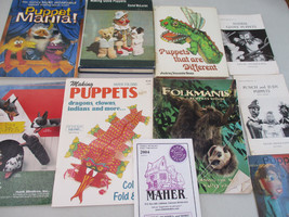 Puppet Book Lot Puppetry How to Make Hobby Sock Arts & Crafts Unusual   - $43.26