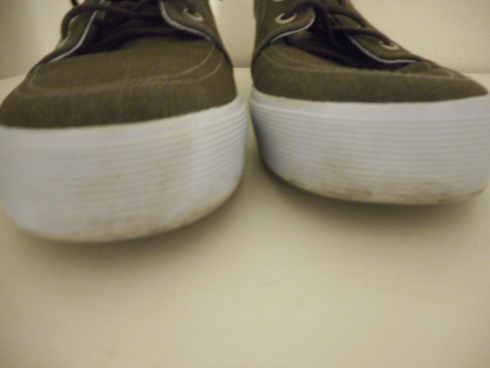 Mens St John's Bay Size 7 M Brown Lace up Denim Shoe Sneaker