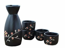 5 PCS Japanese Liquor Sake Set Porcelain Traditional Ceramic Cups Crafts... - $36.74
