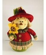 """Scarecrow Harvest Table Top Decor Autumn Fall Cloth 13"""" Tall - $19.79"""