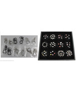 100pc Wholesale Lot Floating Charms 12 Assorted Lockets Gem Jar Display ... - $147.51