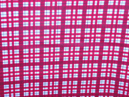 """Red and White Plaid Cotton Quilting Novelty Fabric  100% Cotton 45"""" Wide   Sold  - $4.98"""