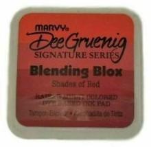 Marvy Dee Gruenig Signature Series Blending Blox Ink Pad, Shades of Red