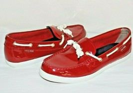 ❤️ COLE HAAN 1928 Nantucket Camp Moc Red Patent Leather Boat Shoe 8 B L@... - $23.74