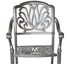 Patio dining chairs 4 Elisabeth outdoor cast aluminum furniture Sunbrella cushio image 3