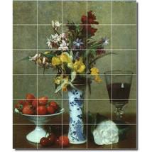 Henri Fantinatour Still Life Painting Ceramic Tile Mural BTZ03203 - $300.00 - $1,800.00
