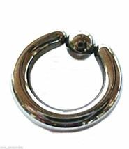 "Captive Nipple Ring Heavy 10 Gauge 5/8"" 5mm Titanium IP Gunmetal Ball Body Jewe - $7.99"