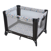 NEW Pack and Play Portable Playard | Push Button Compact Fold, Carnival - $64.64