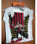 Fashion Holiday Baby Clothes 18M Girl Pirate Tee Shirt Bandana Halloween... - $3.32