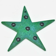 Tabaka Chigware Hand Carved Kisii Soapstone Green Star Christmas Tree Ornament image 2