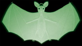 "Bat Prop Hanging Glow In Dark 18"" Halloween Haunted House Realistic 33801 - $33.99"