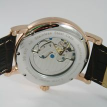 CAPITAL WATCH AUTOMATIC TY2718 MOVEMENT 41 MM PINK CASE ROMAN NUMBER retrò style image 3