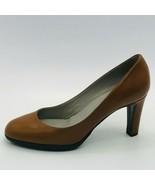 Sergio Rossi Women's Scarpe Donna Pump Brown Calfskin Leather Size 6M - $217.79
