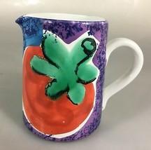 """Starbucks Coffee Ciao Italya Bellini Ceramic Creamer Tomato 5"""" Handpaint... - $32.83"""