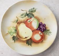 Lefton Handpainted Still Life Fruit Plate SL5935 Japan Vintage - $15.43