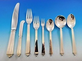 Pyramid by Georg Jensen Danish Sterling Silver Flatware Set Service 48 P... - $7,785.00