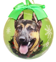 GERMAN SHEPHERD CHRISTMAS BALL ORNAMENT DOG HOLIDAY XMAS PET LOVERS GIFT - $10.95