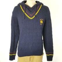 Polo Ralph Lauren Men's Sweater Vintage Varsity Crest Hood Sz XL NWT $228 - $83.67