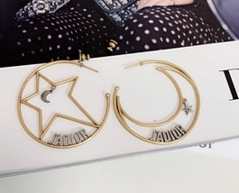 AUTHENTIC Christian Dior 2018 LIMITED EDITION J'ADIOR LARGE HOOP EARRINGS GOLD  image 8