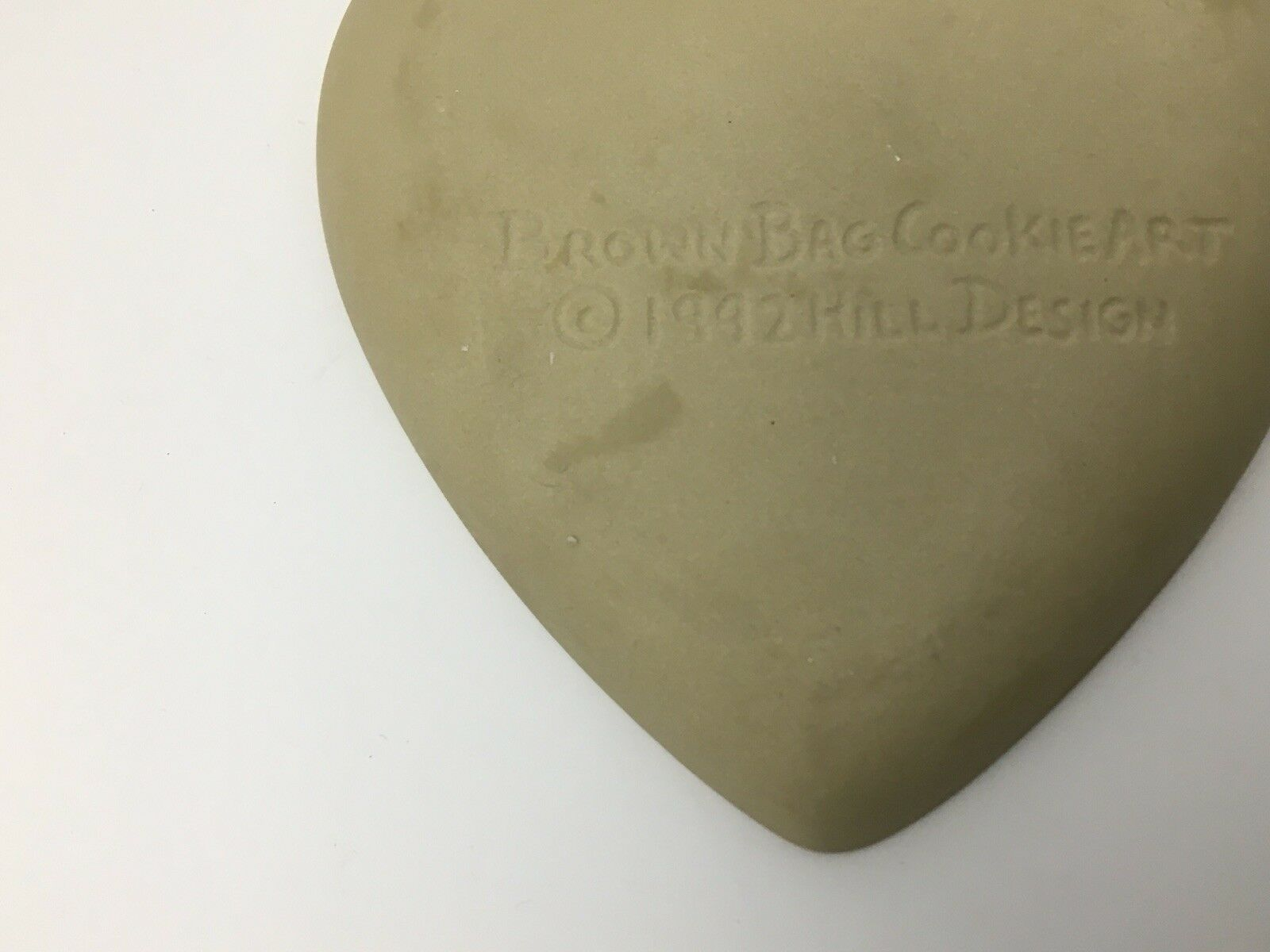 Vtg Cookie Press Cupid Heart Love Craft Brown Bag Food Mold USA Valentines Day image 7