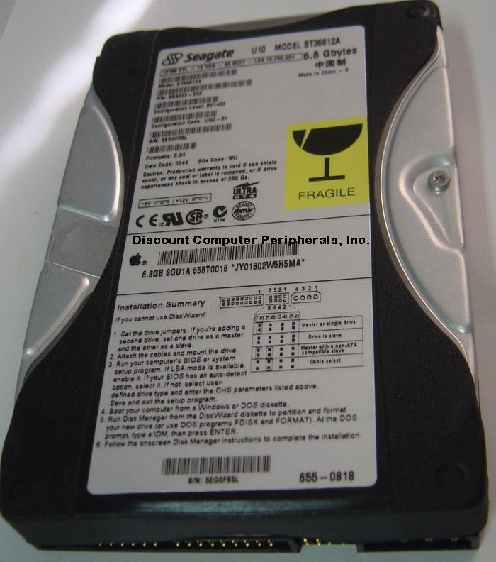 6.8GB 3.5in IDE Drive Seagate ST36812A Tested Good Free USA Ship Our Drives Work