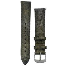 Michele 18mm Metallic Genuine Saffiano Leather Strap MS18AA430839 CSX De... - $48.19