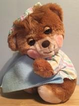 Fisher Price Teddy Beddy Bear Blue Blanket Plush 1985 Stripe Nightshirt ... - $29.99