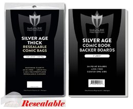 (1000) SILVER AGE THICK Size RESEALABLE Ultra C... - $124.99