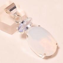 "Milky Opal Brazilian Amethyst Handmade Fashion Jewelry Pendant S-2.10"" U... - $6.00"