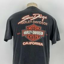Harley Davidson Mens San Diego California Black Distressed T Shirt Size ... - $44.54