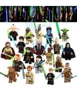 19Pcs Jedi Master Star Wars Yoda Obi-Wan Anakin Ahsoka Stass Allie Minif... - $32.99