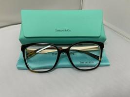Tiffany & Co TF2189 8275 Havana Gold Rx Eyeglass Frames 54-17-140 Brand New - $135.44