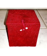 Small Red Velvet Gift Decorative Box Trinket Box (New With Defects) - $7.91