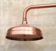 Antique Red Copper 8 inch Rainfall Shower Heads Bathroom Shower Accessory lsh054 - $79.95