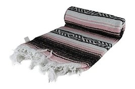 Authentic 6' x 5' Mexican Siesta Blanket (Random / Assorted) (Pink) - $15.36 CAD