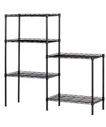 Changeable Assembly Floor Standing Carbon Steel Storage Rack Black - $69.95
