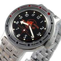 Vostok Russian Automatic Amphibia 420380 Divers Military Watch Auto - $72.69