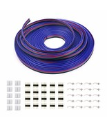 iCreating 100ft 4 Pin RGB Extension Cable Wire Cord for 5050 3528 Color ... - $18.05