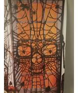 Halloween Spider Skull Door Panel - $13.50