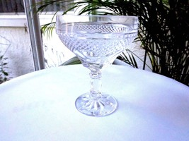 Set of 3 Hearthside Clear Crystal Champagne Glass Crosshatch & Panel c 1... - $25.73