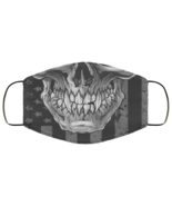 Face Mask Skull Over The American Flag Patriot 2 Ply Lightweight and Bre... - $13.95