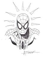 Alex Saviuk Original Marvel Comic Art Sketch ~ The Amazing Spiderman - $123.74