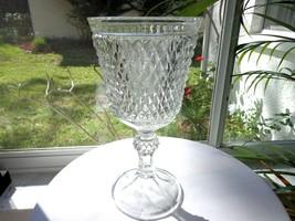 Indiana Glass Chalise Centerpiece Vase Diamond Point Pattern - $23.76