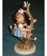 "**HUGE** 10"" Apple Tree Girl With Blue Bird Goebel Hummel Figurine TMK4 ... - $872.99"