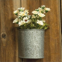 Galvanized Wall Planter Herb Garden Floral Holder  - $26.83 CAD